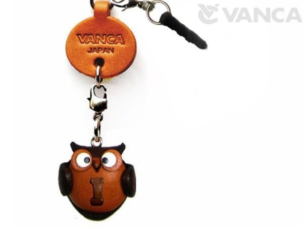 ALPHABET OWL I LEATHER ANIMAL EARPHONE JACK ACCESSORY