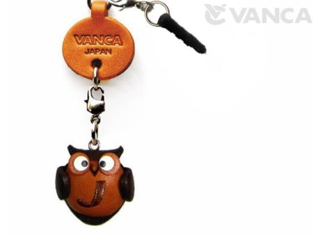 ALPHABET OWL J LEATHER ANIMAL EARPHONE JACK ACCESSORY