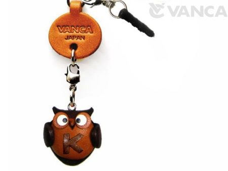 ALPHABET OWL K LEATHER ANIMAL EARPHONE JACK ACCESSORY