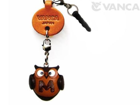 ALPHABET OWL M LEATHER ANIMAL EARPHONE JACK ACCESSORY