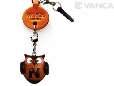 ALPHABET OWL N LEATHER ANIMAL EARPHONE JACK ACCESSORY