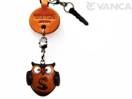 ALPHABET OWL S LEATHER ANIMAL EARPHONE JACK ACCESSORY