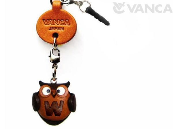 ALPHABET OWL W LEATHER ANIMAL EARPHONE JACK ACCESSORY