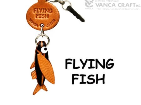 FLYING FISH LEATHER FISH & SEA ANIMAL EARPHONE JACK ACCESSORY