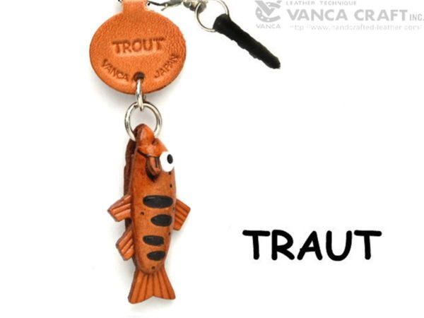 TROUT LEATHER FISH & SEA ANIMAL EARPHONE JACK ACCESSORY