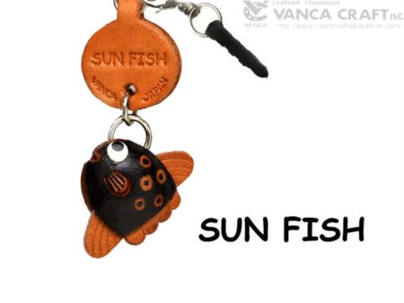 SUN FISH LEATHER FISH & SEA ANIMAL EARPHONE JACK ACCESSORY