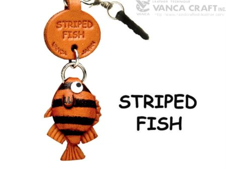 STRIPED FISH LEATHER FISH & SEA ANIMAL EARPHONE JACK ACCESSORY