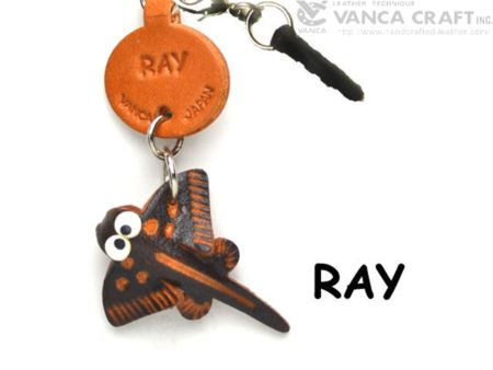 RAY LEATHER FISH & SEA ANIMAL EARPHONE JACK ACCESSORY