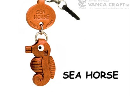 SEA HORSE LEATHER FISH & SEA ANIMAL EARPHONE JACK ACCESSORY