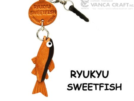 RYUKYU SWEETFISH LEATHER FISH & SEA ANIMAL EARPHONE JACK ACCESSORY